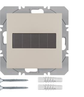 B.Kwadrat/S.1 KNX RF Przycisk 1-kr płaski z baterią słoneczną Berker.Net, kremowy, połysk Berker 85655182