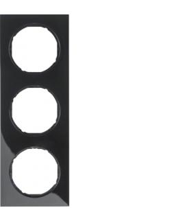 R.3 Ramka 3-krotna, czarny, połysk Berker 10132245