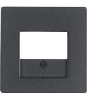 Q.x Płytka czołowa do gniazda głośnikowego i gniazda ładowania USB, antracyt aksamit, lakierowany Berker 10336086