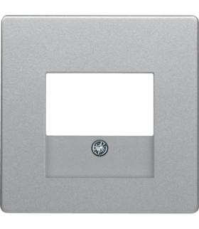 Q.x Płytka czołowa do gniazda głośnikowego i gniazda ładowania USB, alu aksamit, lakierowany Berker 10336084