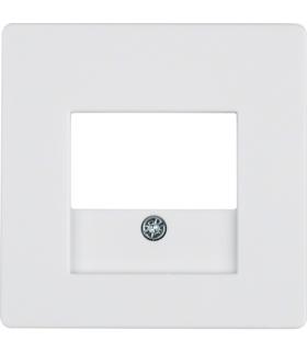 Q.x Płytka czołowa do gniazda głośnikowego i gniazda ładowania USB, biały, aksamit Berker 10336089