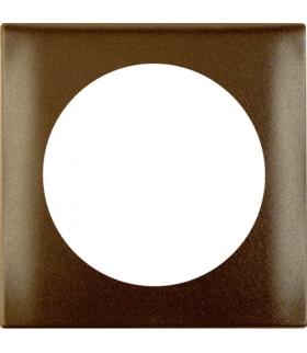 Integro Flow Ramka 1-krotna, brązowy, mat Berker 918272501