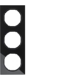 R.3 Ramka 3-krotna, szkło, czarny Berker 10132216