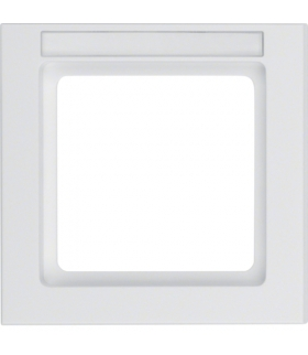 Q.3 Ramka 1-krotna z polem opisowym, biały, aksamit Berker 10516099