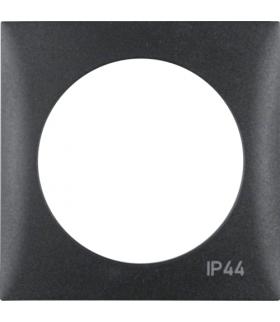 "Integro Flow Ramka 1-krotna z nadrukiem ""IP44"" bez uszczelki, antracyt, mat Berker 918272595"