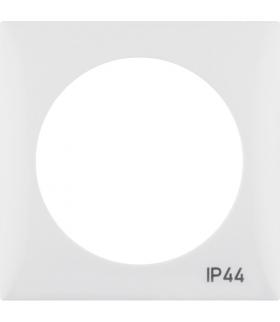 """Integro Flow Ramka 1-krotna z nadrukiem """"IP44"""" bez uszczelki, biały, połysk Berker 918272599"""