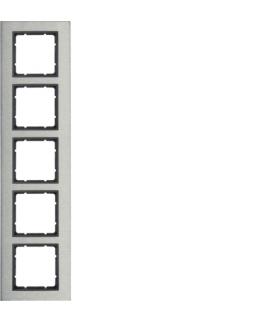 B.7 Ramka 5-krotna pozioma, stal szlachetna/antracyt mat Berker 10253606