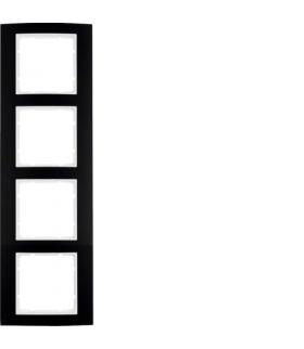 B.3 Ramka 4-krotna, alu, czarny/biały Berker 10143025