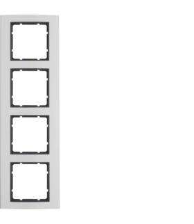 B.3 Ramka 4-krotna, alu/antracyt Berker 10143004