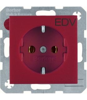 S.1/B.3/B.7 Gniazdo SCHUKO z nadrukiem 'EDV', czerwony Berker 47431922