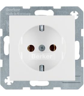 S.1/B.3/B.7 Gniazdo SCHUKO z uziemieniem, samozaciski, biały Berker 47431909