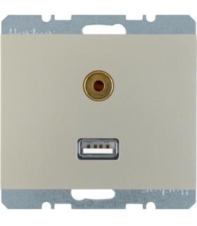 K.5 Gniazdo USB/3,5mm audio, stal szlachetna, lakierowany Berker 3315397004
