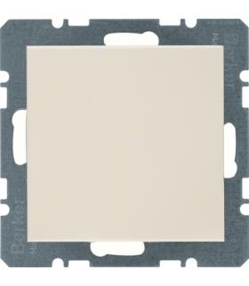 B.Kwadrat/S.1 Zaślepka z płytką czołową, bez pazurków rozporowych, kremowy, połysk Berker 10098982