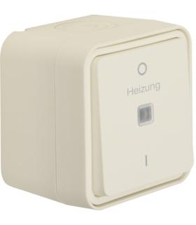 """W.1 Łącznik kontrolny z nadrukiem """"Heizung 0-1"""" kompletny IP55 biały Berker 35623502"""