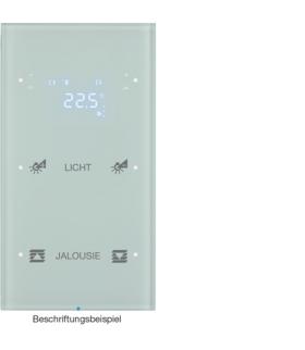 R.3 Sensor dotykowy 2-krotny z reg. temp. konfigurowalny, szkło, biały