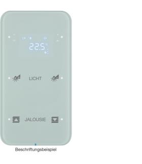 R.1 Sensor dotykowy 2-krotny z reg. temp. konfigurowalny, szkło, biały