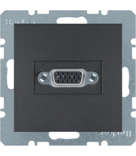 B.x Gniazdo VGA, zaciski śrubowe, antracyt, mat Berker 3315411606