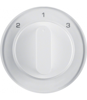 R.1/R.3 Płytka czołowa z pokrętłem do łącznika 3-pozycyjnego bez pozycji zerowej, biały, połysk Berker 10842089