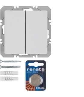 Q.x KNX RF quicklink Przycisk radiowy 2-kr płaski biały