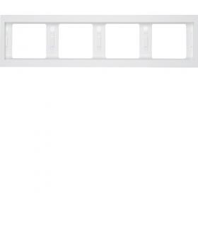 K.1 Ramka 4-krotna, pozioma, biały, połysk Berker 13837009