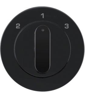 R.1/R.3 Płytka czołowa z pokrętłem do łącznika 3-pozycyjnego bez pozycji zerowej, czarny, połysk Berker 10842045