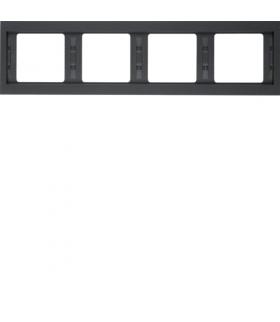 K.1 Ramka 4-krotna, pozioma, antracyt mat, lakierowany Berker 13837006