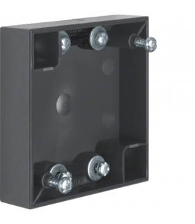 Integro Flow Puszka natynkowa 1-krotna płaska, antracyt, połysk Berker 911522565