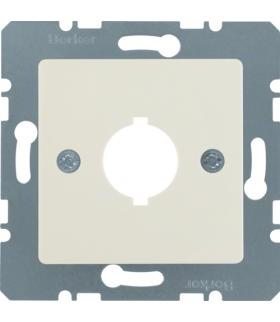 B.Kwadrat Płytka czołowa z otworem Ø 18,8 mm do gniazda wyrównania potencjału 1-kr, kremowy, połysk Berker 143102