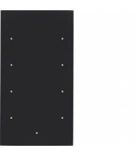 TS Sensor szklany dotykowy 4-krotny, szkło, czarny Berker 168405