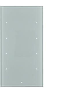 TS Sensor szklany dotykowy 4-krotny, szkło, alu Berker 168407