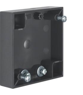 Integro Flow Puszka natynkowa 1-krotna płaska, antracyt, połysk Berker 911522555