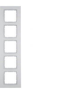 B.7 Ramka 5-krotna, alu, mat Berker 10156424