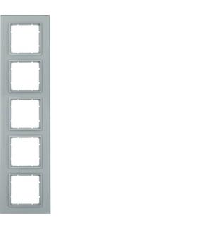 B.7 Ramka 5-krotna, szkło alu/alu mat lakierowany Berker 10156414
