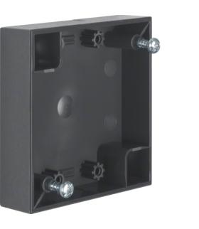 Integro Flow Puszka natynkowa 1-krotna płaska, antracyt, połysk Berker 911522525