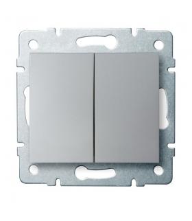 LOGI 02-1010-143 srebrny Łącznik dwugrupowy świecznikowy Kanlux 25185