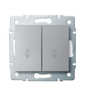 LOGI 02-1060-143 srebrny Łącznik podwójny, schodowy Kanlux 25192