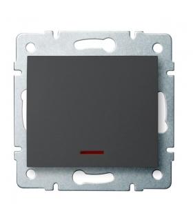 LOGI 02-1110-141 grafit Łącznik jednobiegunowy z LED Kanlux 25256