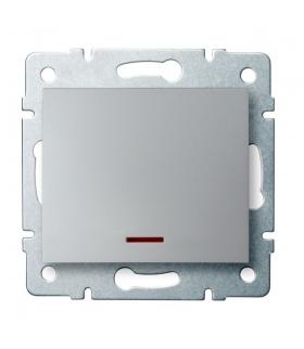 LOGI 02-1110-143 srebrny Łącznik jednobiegunowy z LED Kanlux 25197