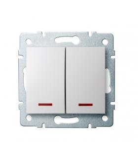 LOGI 02-1120-102 biały Łącznik dwugrupowy świecznikowy z LED Kanlux 25079