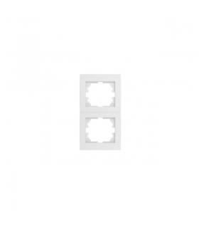 LOGI 02-1520-002 biały Ramka podwójna, pionowa Kanlux 25122
