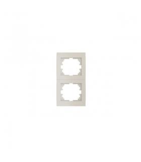LOGI 02-1520-003 kremowy Ramka podwójna, pionowa Kanlux 25181
