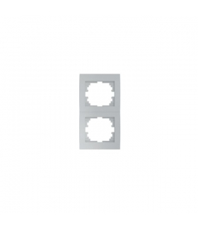 LOGI 02-1520-043 srebrny Ramka podwójna, pionowa Kanlux 25240