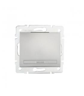 DOMO 01-1000-243 srebrny Łącznik jednobiegunowy Kanlux 24829