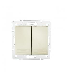 DOMO 01-1010-230 perłowy biały Łącznik dwugrupowy świecznikowy Kanlux 24948