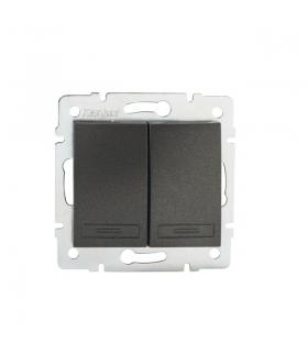 DOMO 01-1010-241 grafit Łącznik dwugrupowy świecznikowy Kanlux 24889