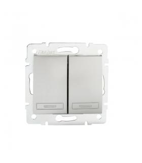DOMO 01-1010-243 srebrny Łącznik dwugrupowy świecznikowy Kanlux 24830