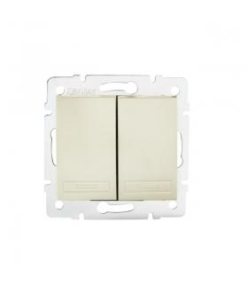 DOMO 01-1022-230 perłowy biały Łącznik zwierny podwójny Kanlux 24951