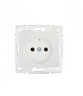 DOMO 01-1250-102 biały Gniazdo zasilające pojedyncze, francuskie, ochrona styków Kanlux 24734