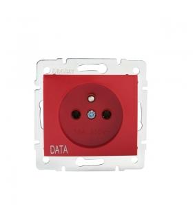DOMO 01-1252-134 czerwony Gniazdo zasilające pojedyncze, francuskie, czerwone (DATA) Kanlux 24736