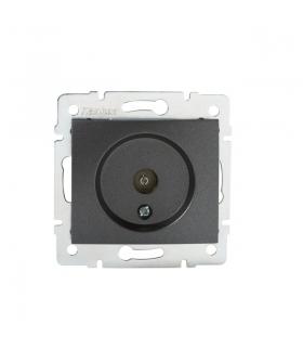 DOMO 01-1290-041 grafit Gniazdo antenowe typu F przelotowe Kanlux 24919